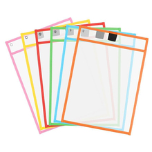 File Pocket Reusable Dry Erasable Pockets Transparent Write And Wipe Drawing Board Dry Brush Bag For Teaching Kids