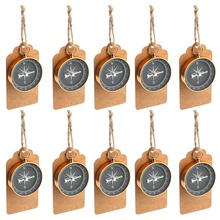 OurWarm 10Pcs <strong>Wedding</strong> Souvenir Compass <strong>Wedding</strong> Favors for Guests with Kraft Tags For Travel Themed Party Favors