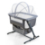 Factory Supply 8 Heights Adjustable Portable Folding Baby Bassinet For Bed