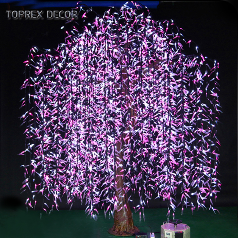 Toprex new item 3m can custom uv proof waterproof CE ROHS static and flash bulb led maple artificial tree large lights