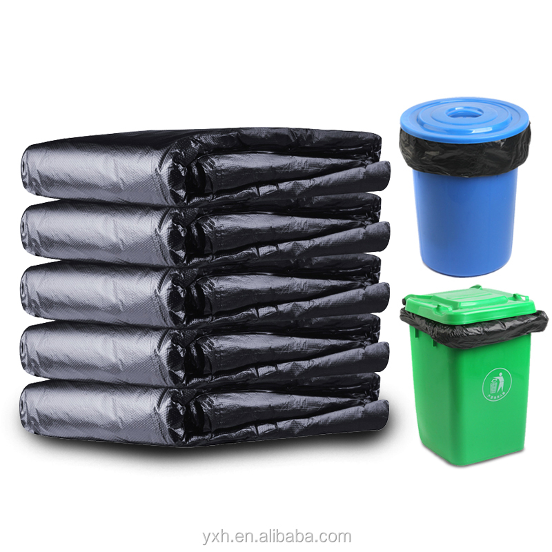 China suppliers plastic <strong>PE</strong> black Thickened 50*60cm 30um thickness waterproof garbage rubbish bags
