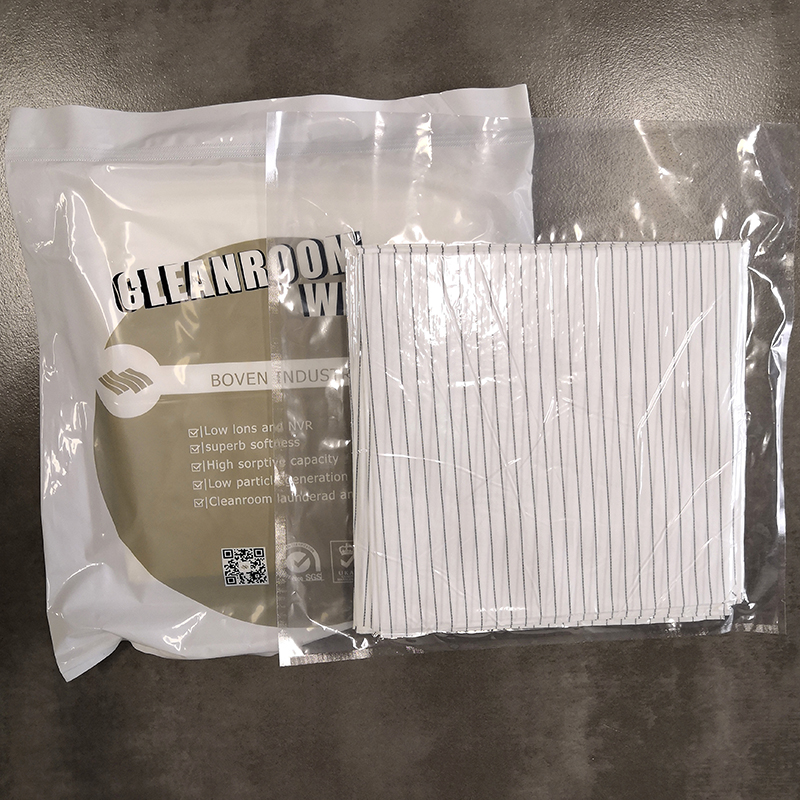 Dust Free Industrial ESD Cleanroom Wipes Electronic Anti-static Fabric White Microfiber Wiping Cloth