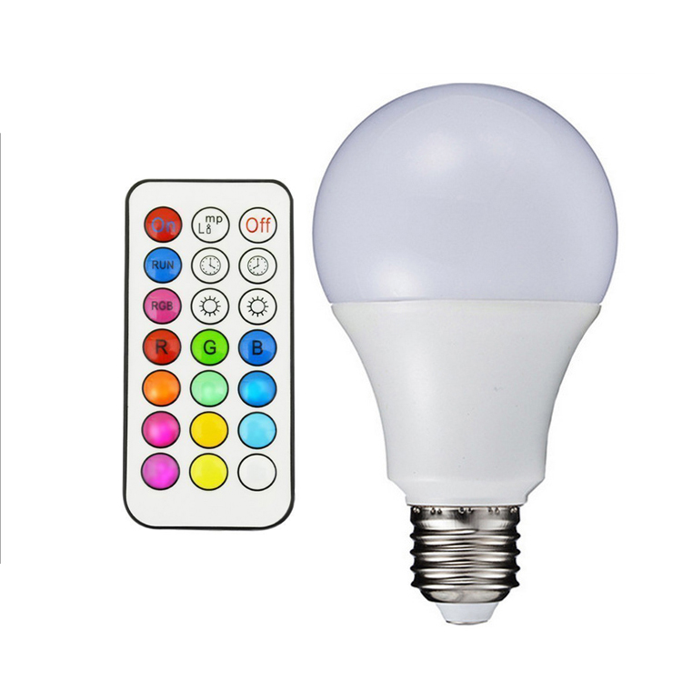 E27 B22 3W 5W 10W RGB+W Multicolor LED Lamp Light 16 million Color Changing <strong>Bulb</strong> + Remote Control led rgb <strong>bulb</strong>