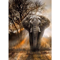 New style multiple tree elephant giraffe diamond painting animal art painting