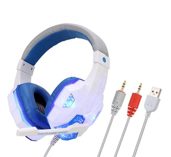 Led Light and USB Computer Gaming Headset 7.1 Over Ear PC Headset with Microphone