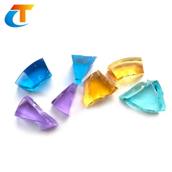 Colored crystal glass block for casting