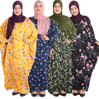 2019 Wholesale African Design Dresses Islamic Clothing Modest Women Ethnic Dress Floral Pattern Abaya