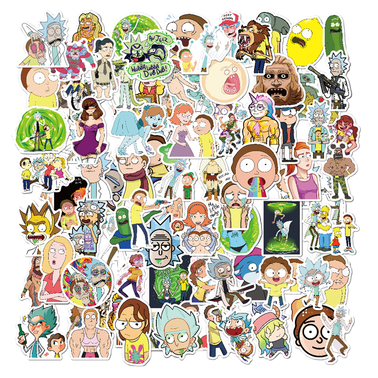 Low MOQ New Design Self Adhesive Characters Carton Sticker Laptop Vinyl Stickers