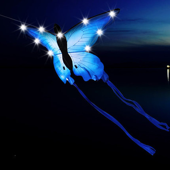 New LED butterfly night kite with thread