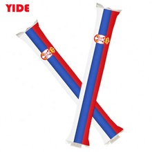 Logo Printed Thunder Bat Inflatable Baton Noise Sticks Cheering Sticks