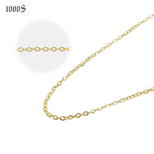 9K, 14K, 18K Real Gold Cable Chains <strong>Necklace</strong> Yellow Gold Rose Gold White Gold Solid Gold Link Chain