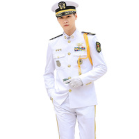 US Navy Officers Dress White Uniform of Merchant Navy Army Dress Uniform Military