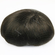 Swiss Lace & PU Toupee For Males Handmade Men Hair Wig Toupee Natural Straight 6Inch Australia Base Hair Toupee