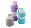 Print Logo Collapsible Bottle Eco Friendly Bpa Free Print Logo Silicone Collapsible Folding Travel Bottles for Climbing