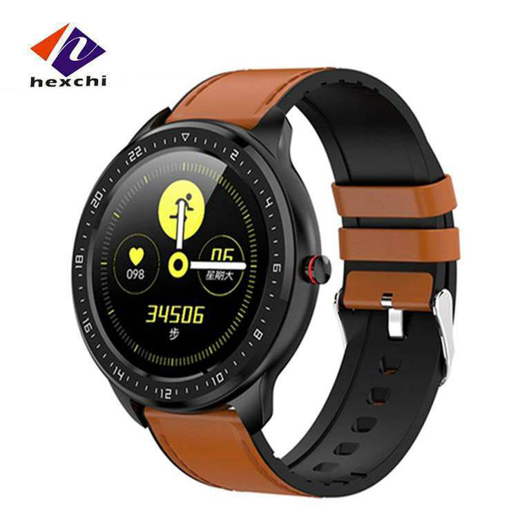 <strong>Z06</strong> Men Full Round HD Touch Screen Smart Watch Heart Rate Health Tracker Wristband Blood Pressure Monitoring Sport Watch