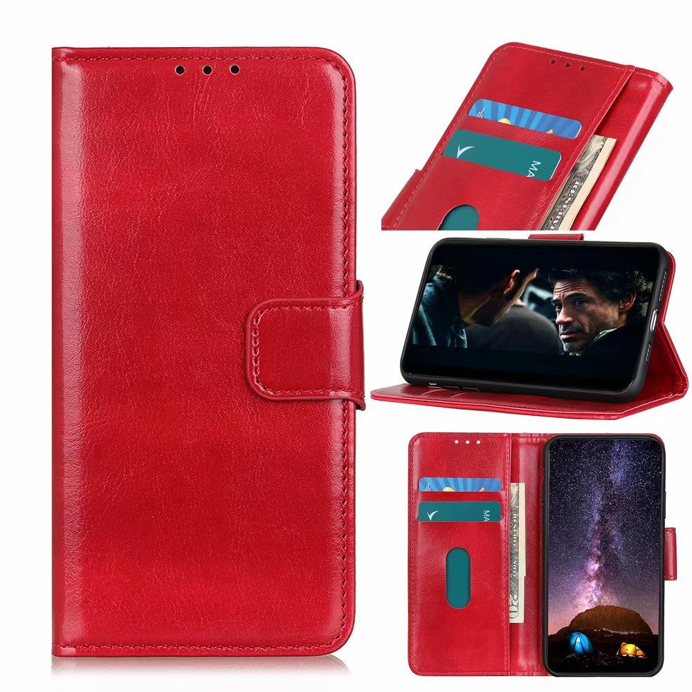 Crazy Horse pattern PU Leather Flip Wallet Case For Oneplus <strong>Z</strong>/NORD /8 NORD 5G With Stand Card Slots