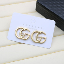 S925 silver needle GG letter <strong>earrings</strong> versatile web celebrity thin face <strong>earrings</strong> high quality fashion temperament <strong>earrings</strong>