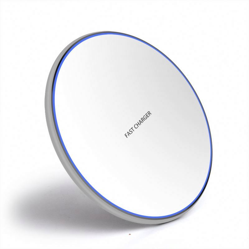 <strong>C12</strong> 10W Wireless Fast Phone Charger LED Light Charging Pad