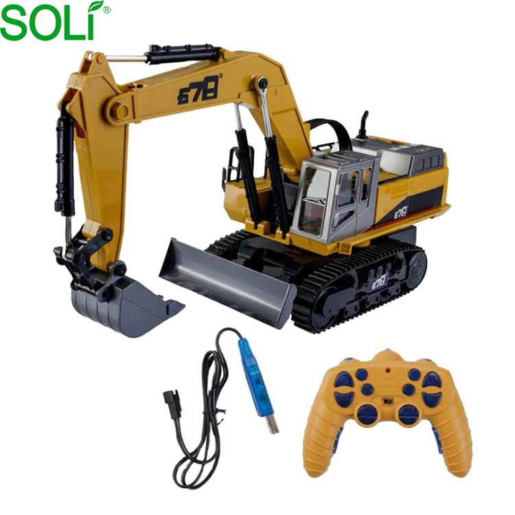 Alloy Metal <strong>Remote</strong> Control Excavator Toy Plastic Boat Very Good 2016 New Xq Car Gift For Car Owners Rc Chariot