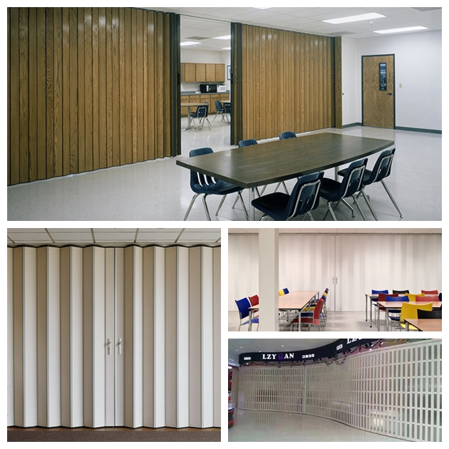 PVC Folding Door Homestyle Plastic Interior Accordion Partition