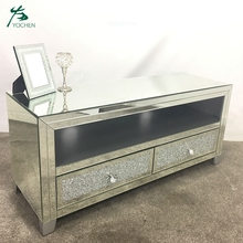 wholesale crush diamond modern mirrored tv stand <strong>furniture</strong>