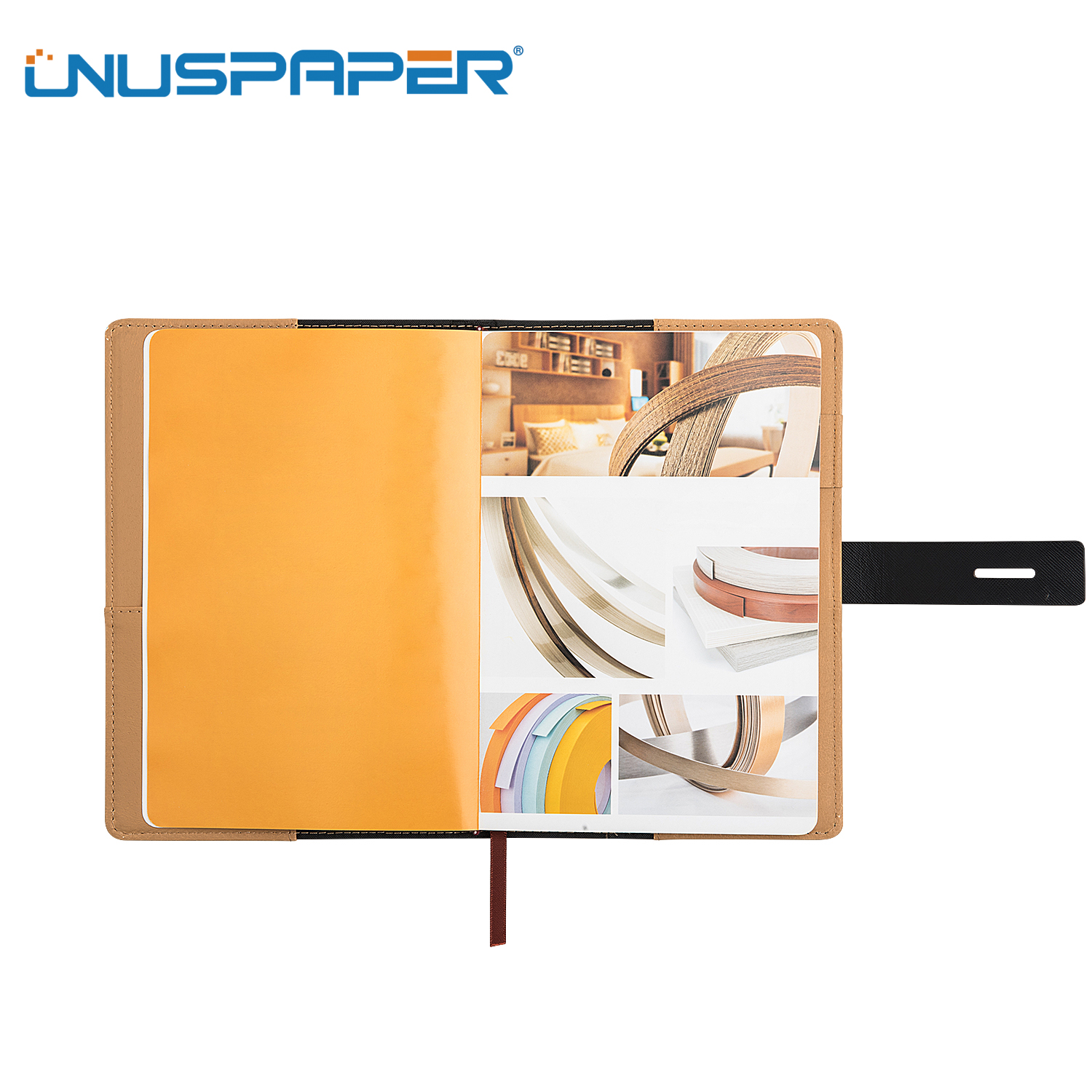 High Quality PU Leather Notebook A5 size With Pen Loop
