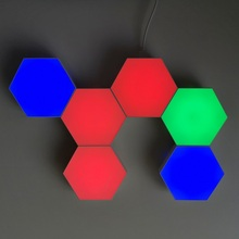RGB Touch Sensitive Night Lamp Magnetic Quantum Honeycomb Wall Light <strong>Module</strong> Hexagon <strong>LED</strong> Light