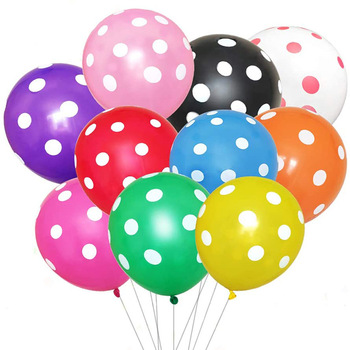 "Dots Printed Latex Balloons 12"" 2.8g New design Latex ballon For Party Happy Birthday decorations"