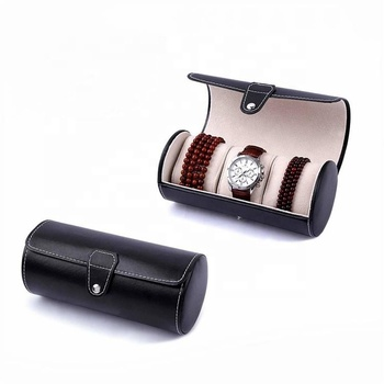 OEM leather box for 3 slot cardboard watch box