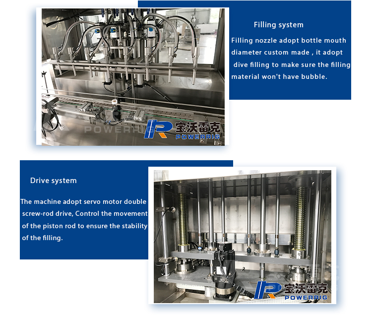 Linear type automatic piston filler for viscosity liquid soap and  honey bottle