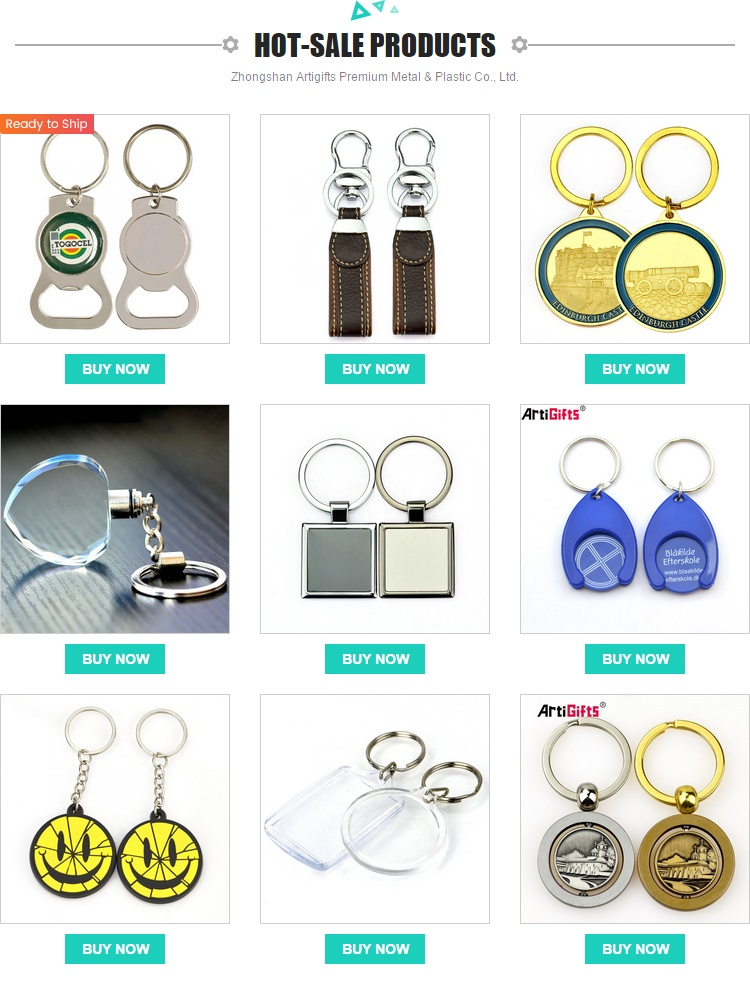 custom excellent quality promotional stainless steel round design key ring