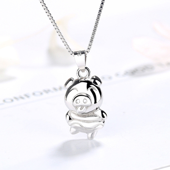 DTINA high quality 925 sterling silver pendant cute pig sterling silver pendant jewelry