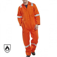 Orange One Piece Reflection Fireproof Overalls