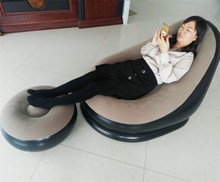 Round inflatable air chair sofa with foot rest lazy lounger sofa bed inflatable <strong>furniture</strong>