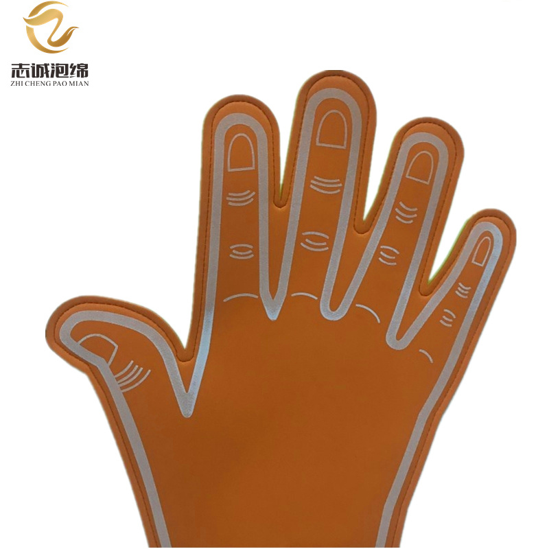 Custom Logo Design Cheering Hands Eva Foam Hand Eva Finger