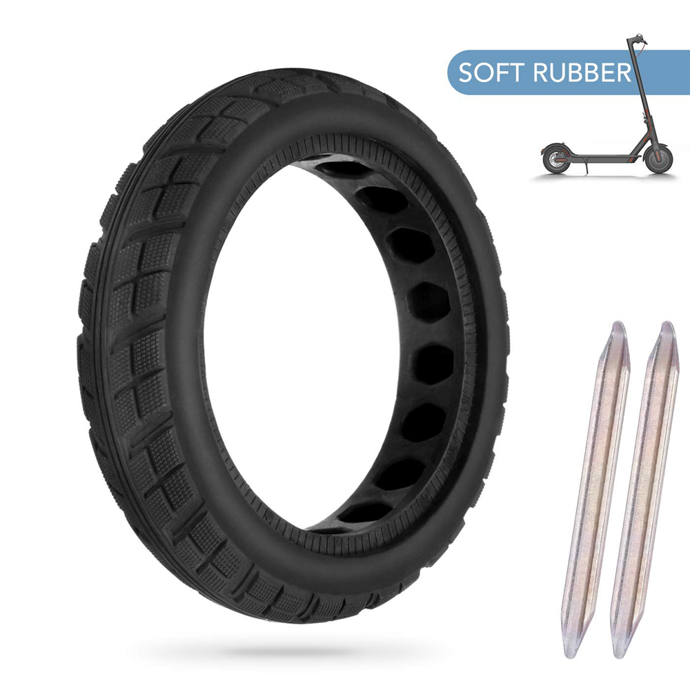 8 1/2*2 Solid <strong>Tire</strong> with Soft Rubber for 8.5 inch Xiaomi M365 and Pro Electric Scooter Customized with Box or 2 pcs Levers
