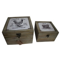 High Quality Handmade Gift Decoration Craft Small Wooden Boxes