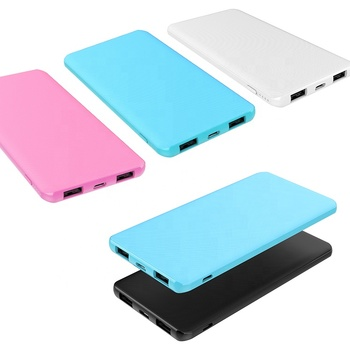 cheap price ultra thin pocket phone power bank 5000mah mobile charger type c input