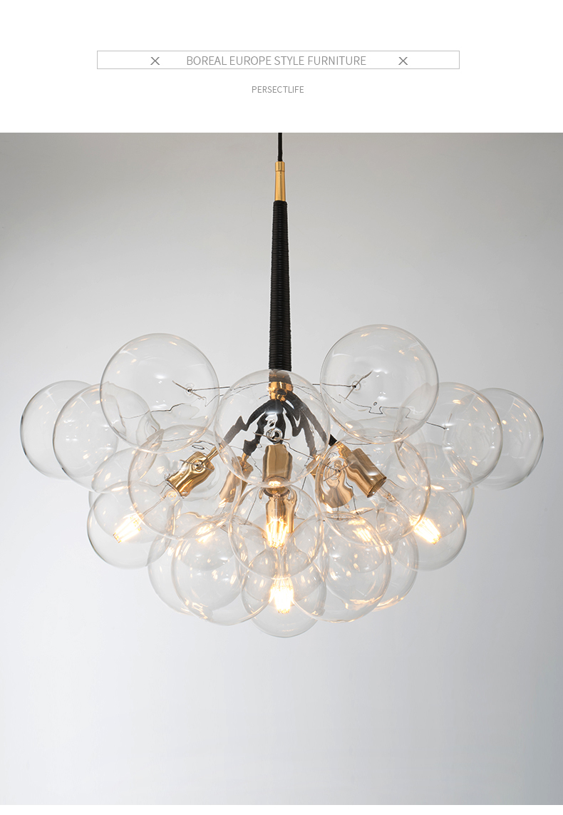 Nordic large chandelier living room restaurant shopping mall hotel starry sparkle led decoration dandelion lamps