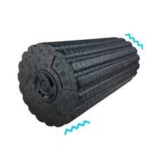 Black Electric Vibration Massage Foam Roller Yoga Column Rechargeable Relax Muscle Electric Massager