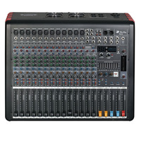 Professional 16 channels stereo audio powered mixer amplifier