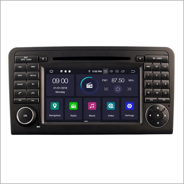 7 inch car gps navigation/ reverse camera/ BT Android 9.0 double din car <strong>dvd</strong> player for Mercedes-Benz ML 320/ML 350/<strong>W164</strong>