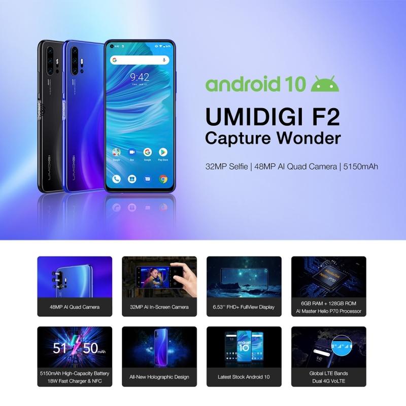 UMIDIGI F2, 48MP AI Camera, 6GB+128GB, 5150mAh Battery Fashionable Young Mobile Phone