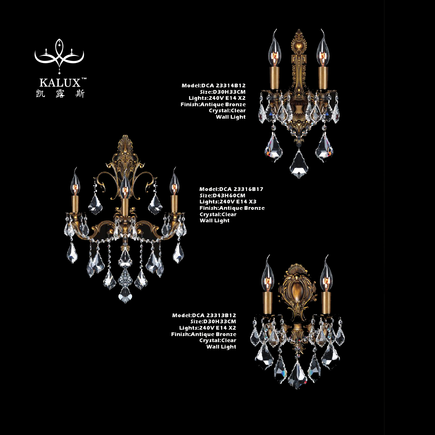 French european style zinc alloy candle dining room wall lamp indoor for hotel