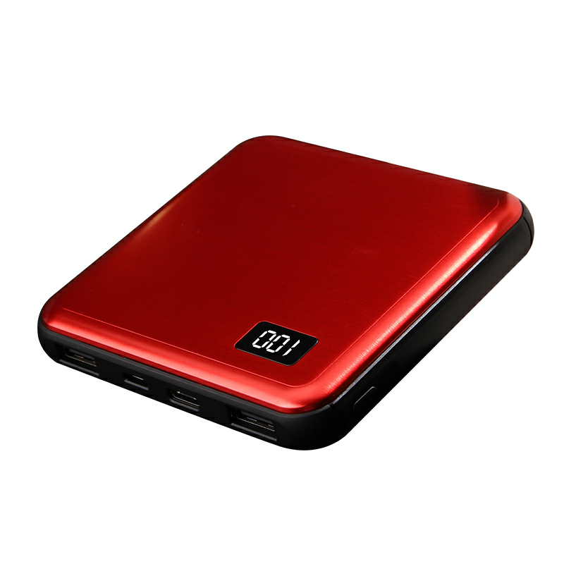 best selling square slim <strong>card</strong> 10000mah LCD display power bank