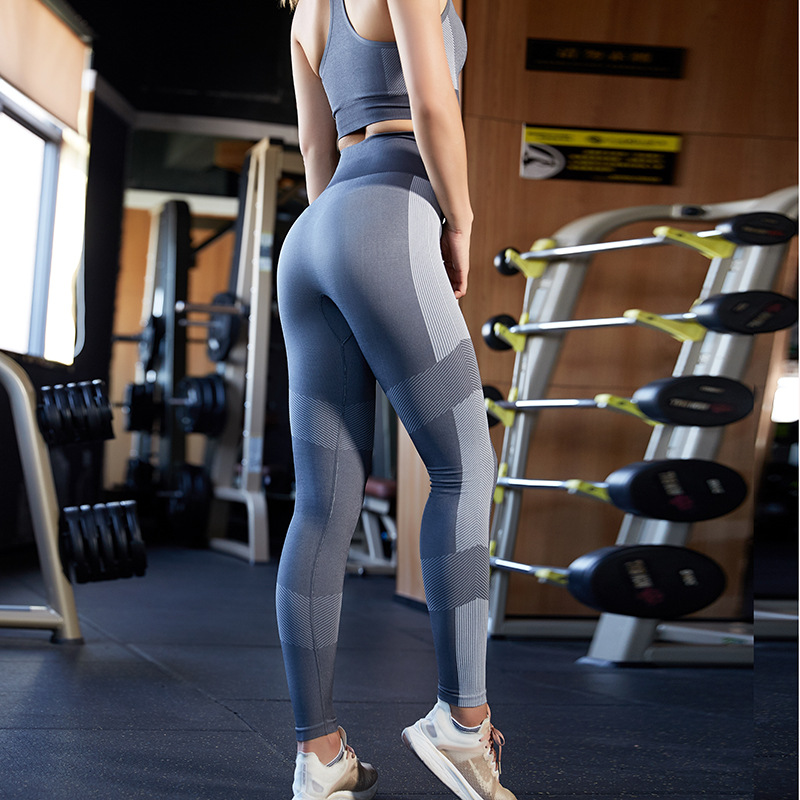 Womens high waist Buttock lift fitness pants stretch tight quick dry running OEM LOGO yoga pants
