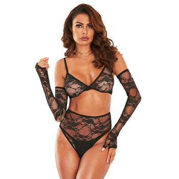 Sexy Women Two Piece Bralette Lingerie Set With Bottom Thong