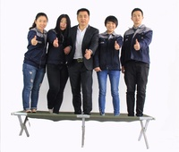 AEN-ST099 Adjustable Aluminum Alloy Portable army folding camping bed