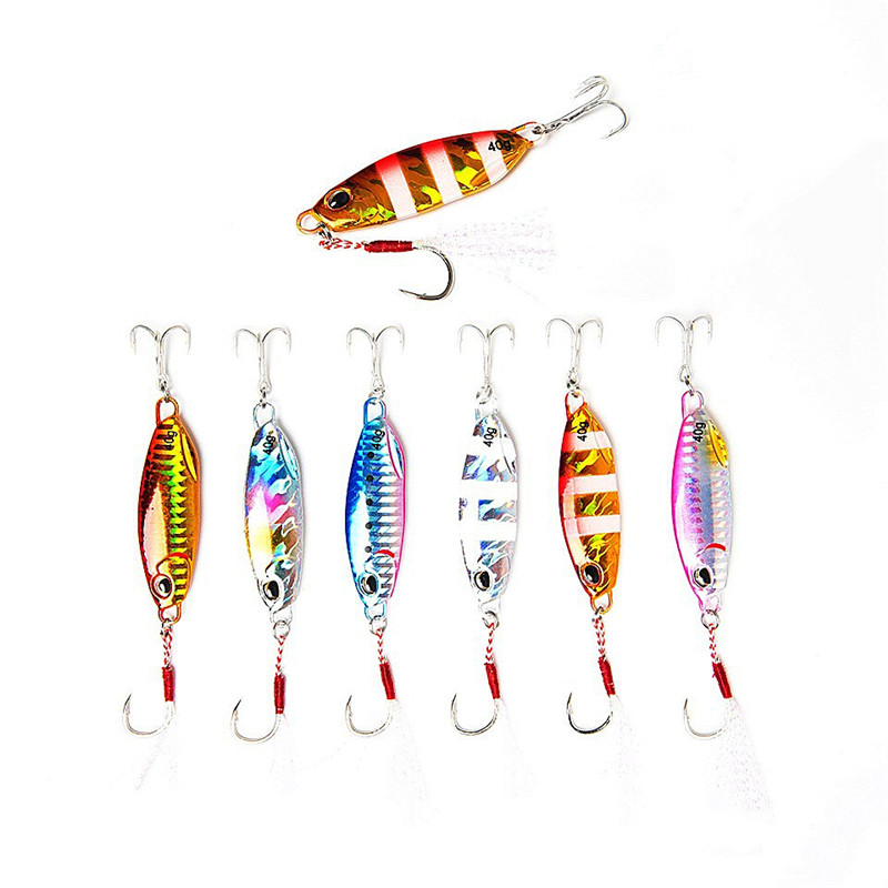 15g 20g 30g 40g High <strong>Quality</strong> slow vertical jigging lure hard metal jigs lure lead fish baits fishing jig