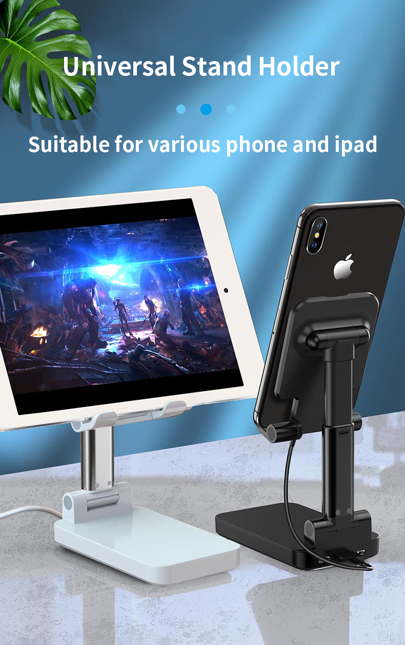 Mobile phone silicon aluminum phone stand holders with 10W wireless Charger